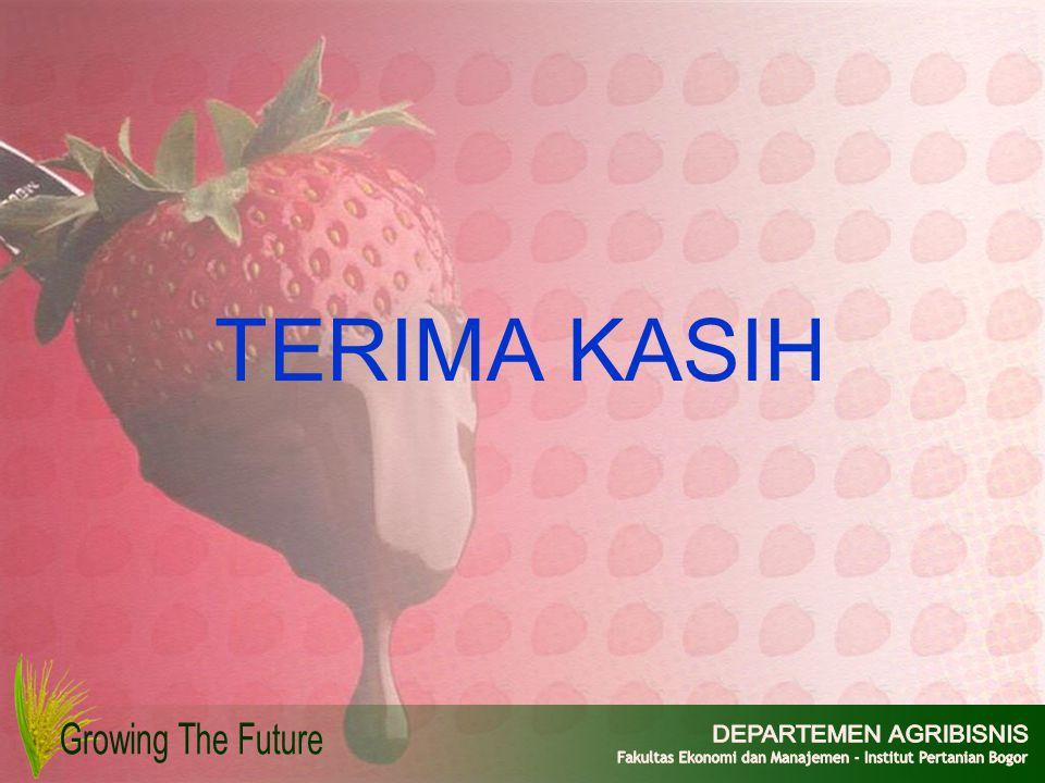 TERIMA KASIH Growing The Future DEPARTEMEN AGRIBISNIS