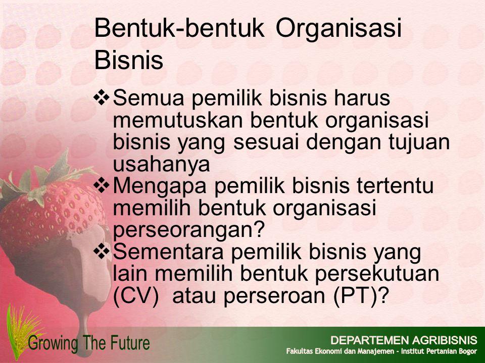 Bentuk-bentuk Organisasi Bisnis