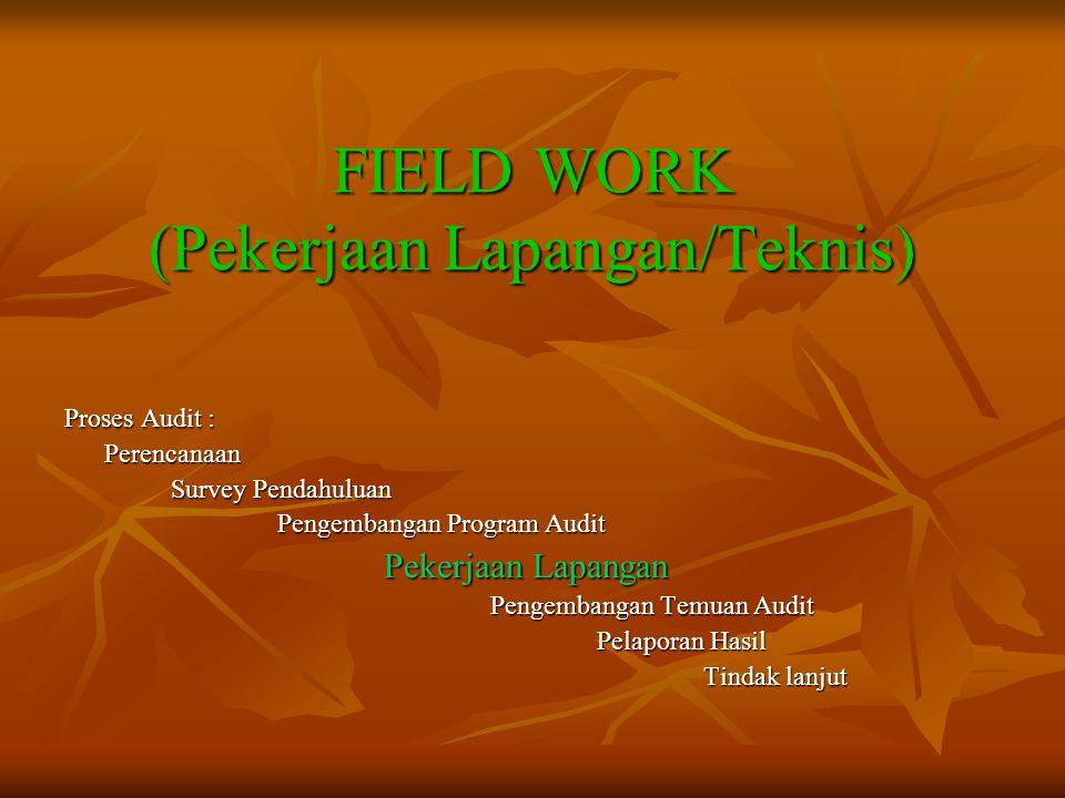 FIELD WORK (Pekerjaan Lapangan/Teknis)