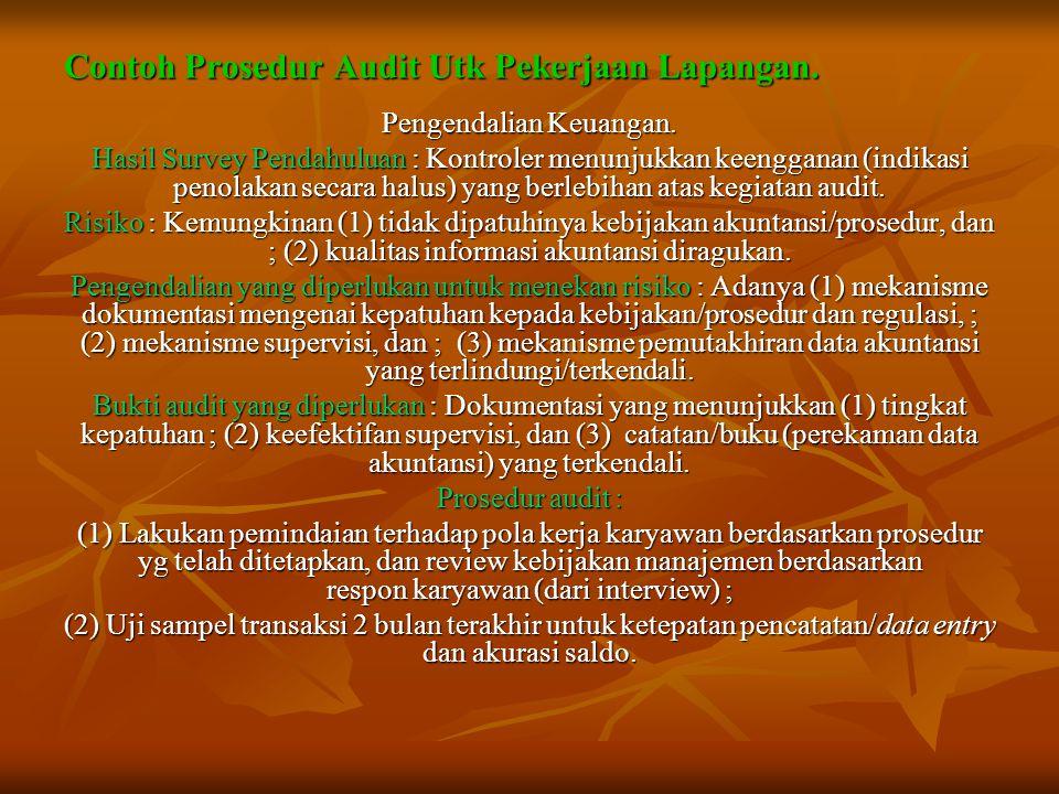 Contoh Prosedur Audit Utk Pekerjaan Lapangan.