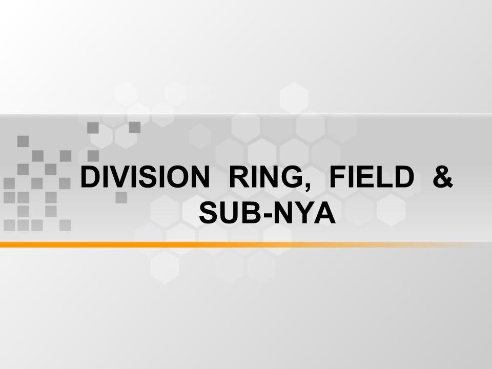 DIVISION RING, FIELD & SUB-NYA