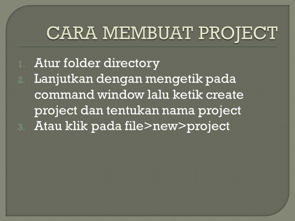 CARA MEMBUAT PROJECT Atur folder directory