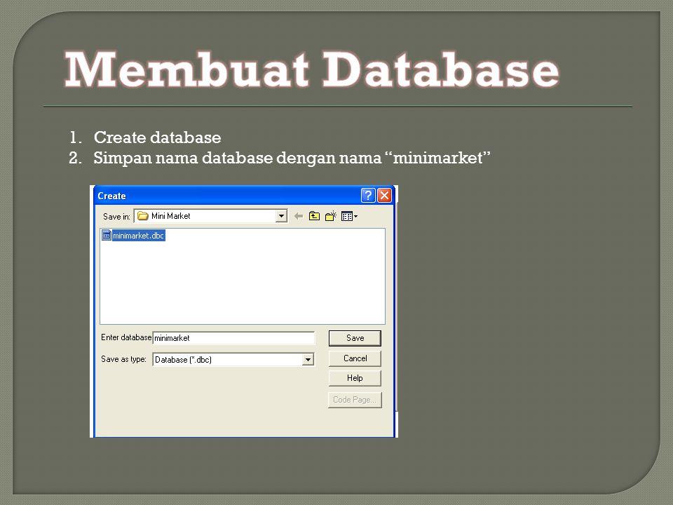 Membuat Database Create database