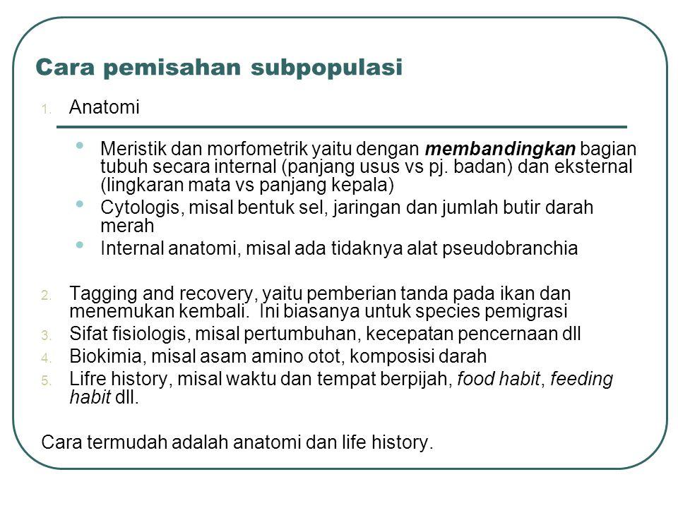 Cara pemisahan subpopulasi