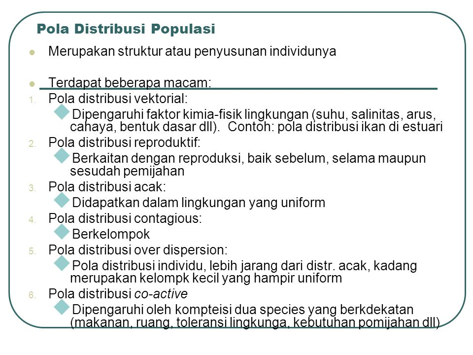 Pola Distribusi Populasi