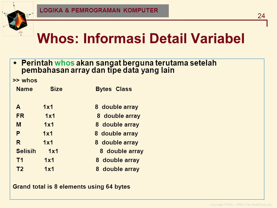 Whos: Informasi Detail Variabel