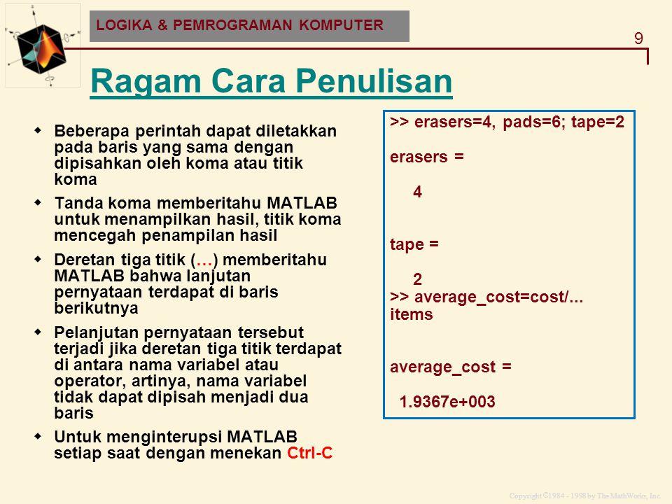 Ragam Cara Penulisan >> erasers=4, pads=6; tape=2
