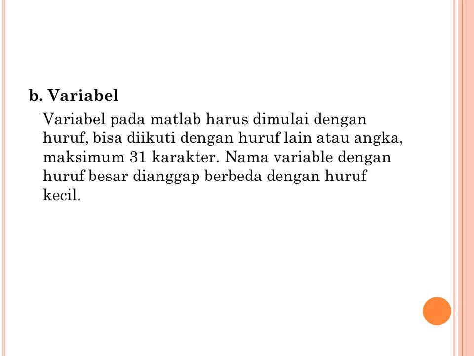 b. Variabel