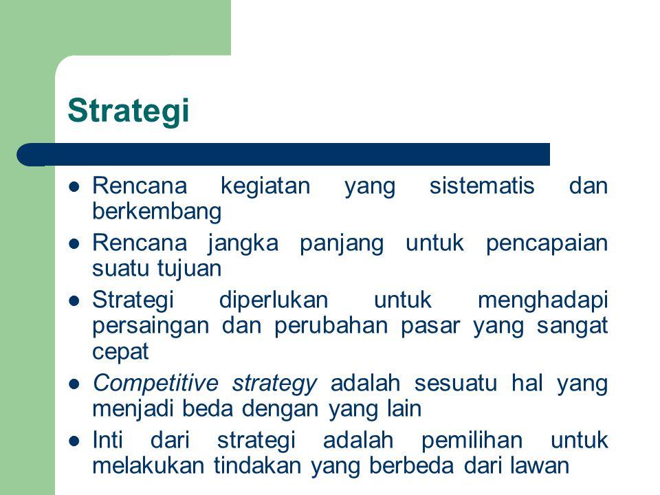 Strategi Rencana kegiatan yang sistematis dan berkembang