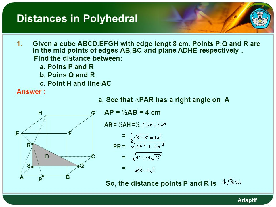 Distances in Polyhedral