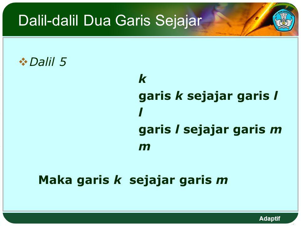 Dalil-dalil Dua Garis Sejajar