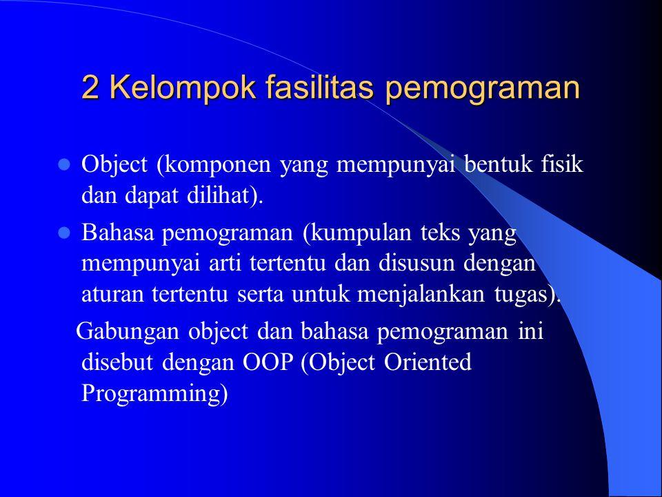 2 Kelompok fasilitas pemograman