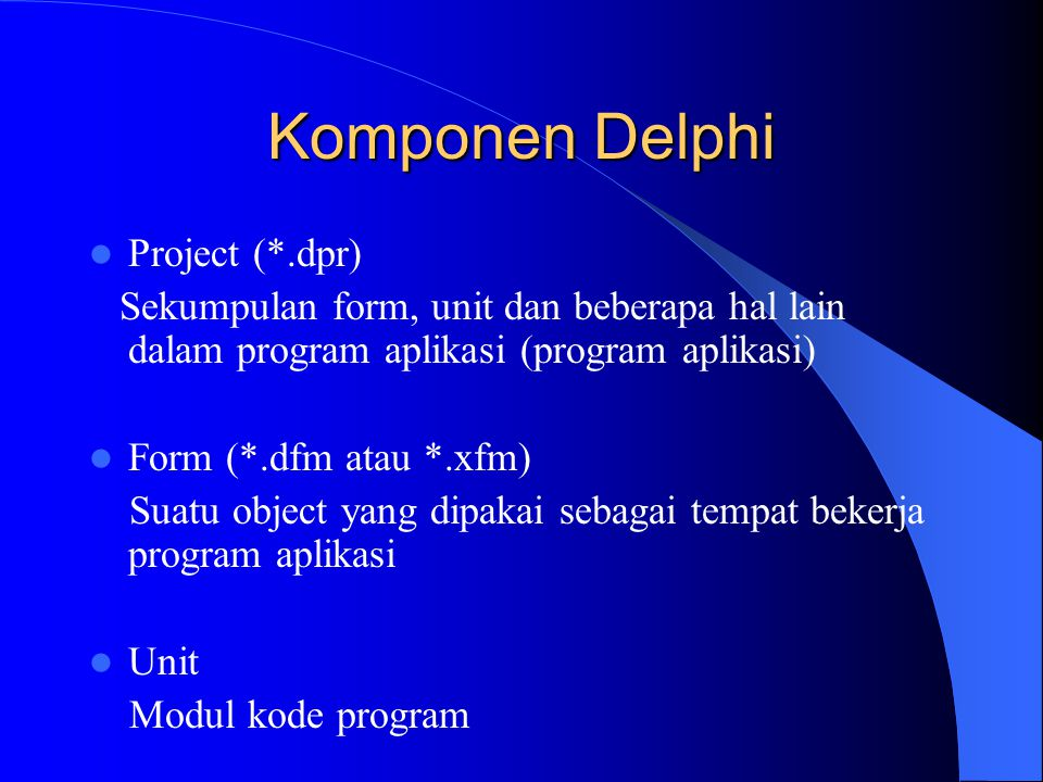 Komponen Delphi Project (*.dpr)