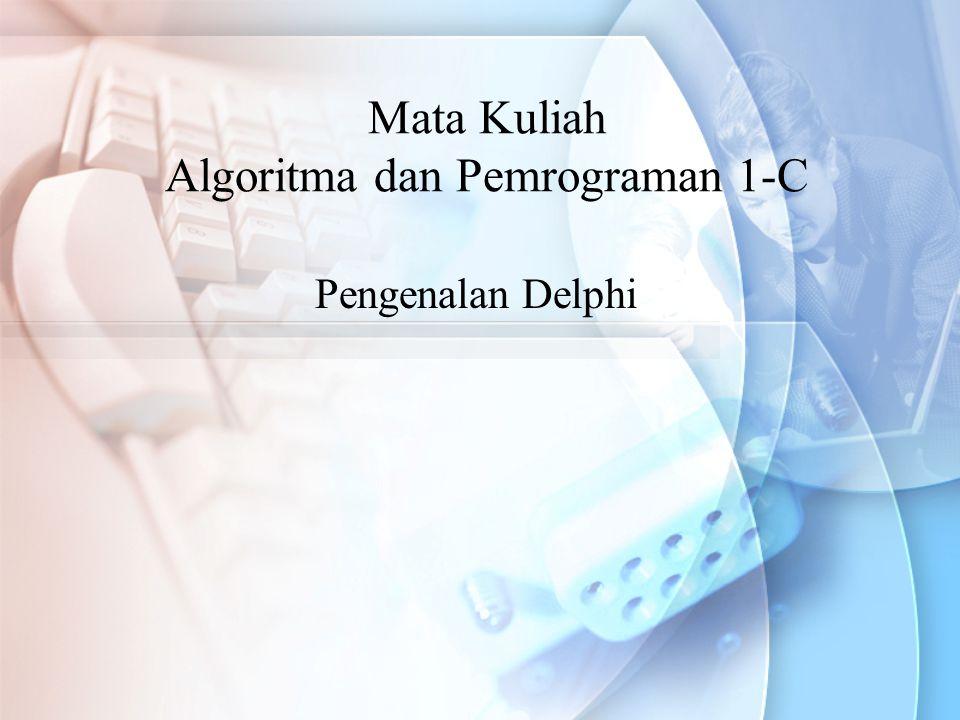 Mata Kuliah Algoritma dan Pemrograman 1-C