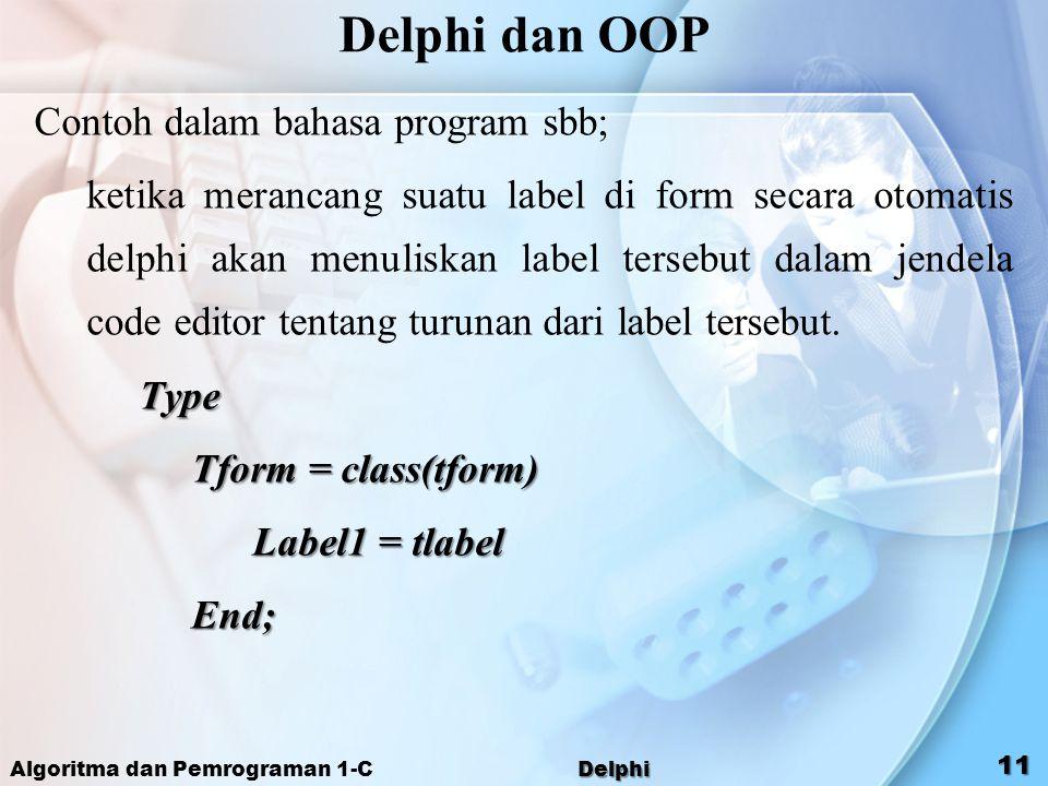 Delphi dan OOP