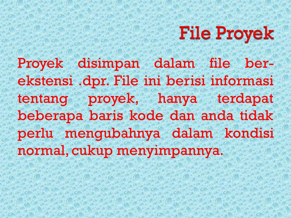 File Proyek