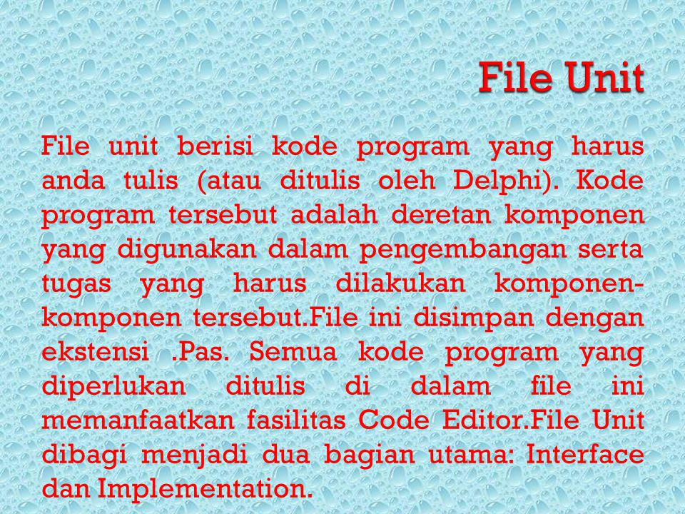 File Unit