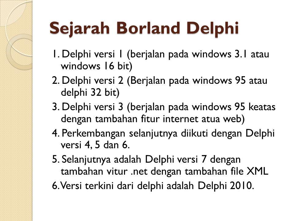 Sejarah Borland Delphi