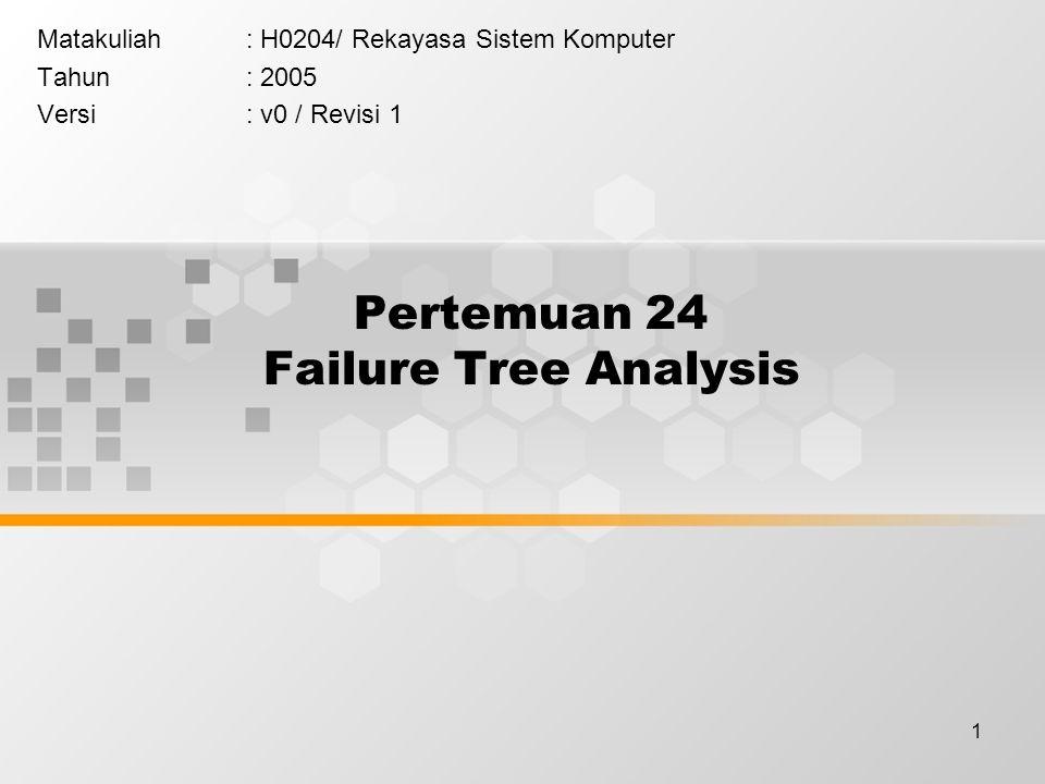Pertemuan 24 Failure Tree Analysis
