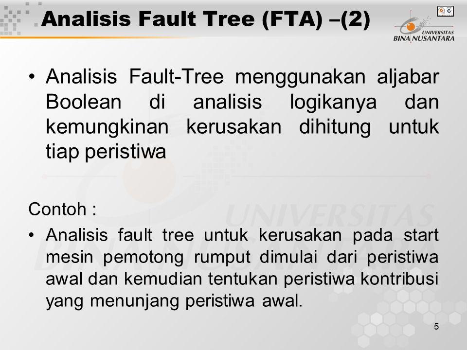 Analisis Fault Tree (FTA) –(2)