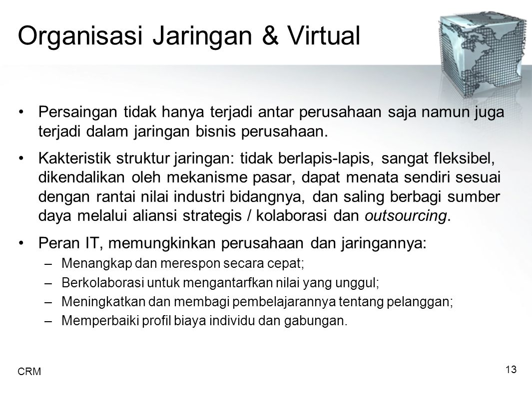Organisasi Jaringan & Virtual