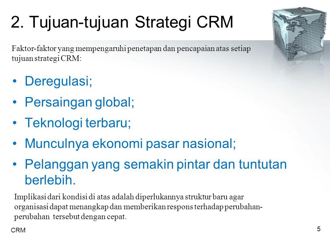 2. Tujuan-tujuan Strategi CRM