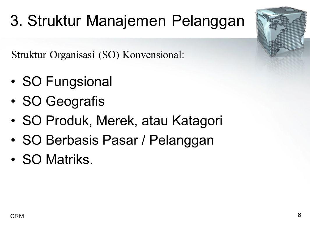 3. Struktur Manajemen Pelanggan