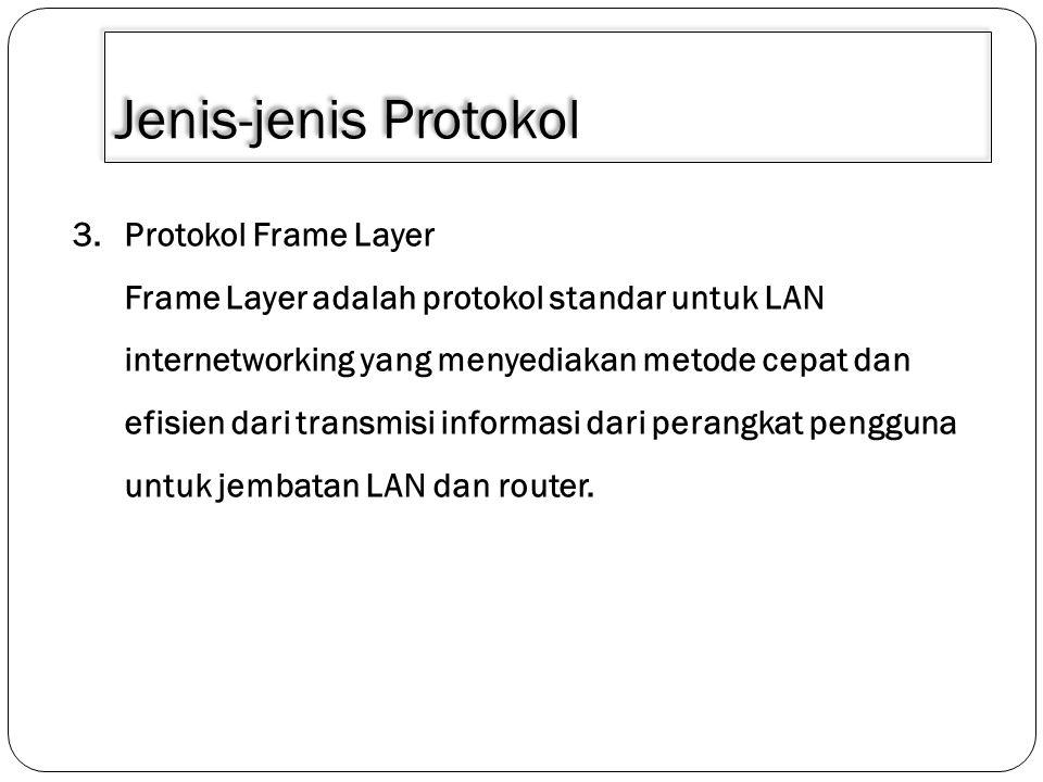 Jenis-jenis Protokol Protokol Frame Layer