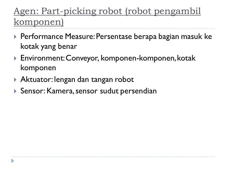Agen: Part-picking robot (robot pengambil komponen)