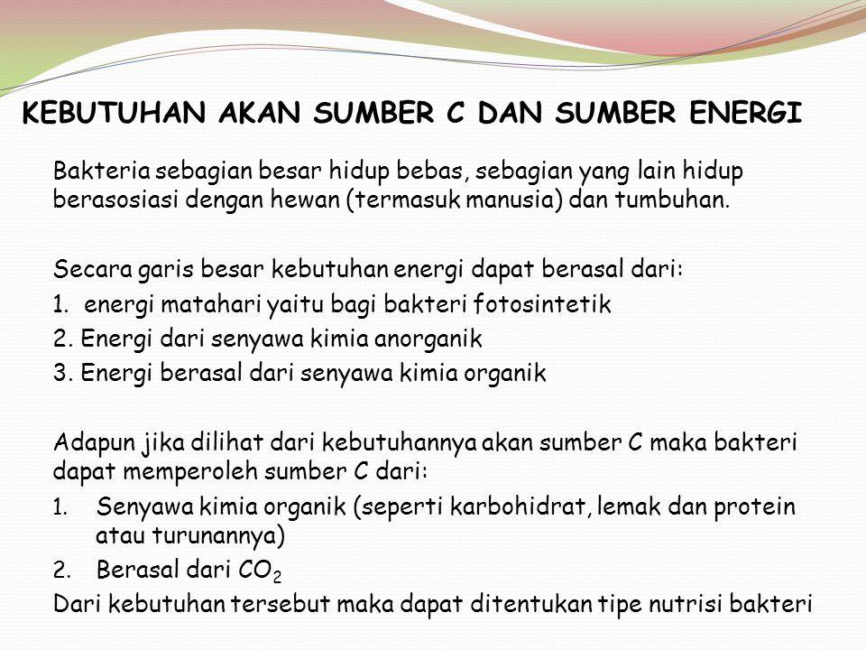 KEBUTUHAN AKAN SUMBER C DAN SUMBER ENERGI
