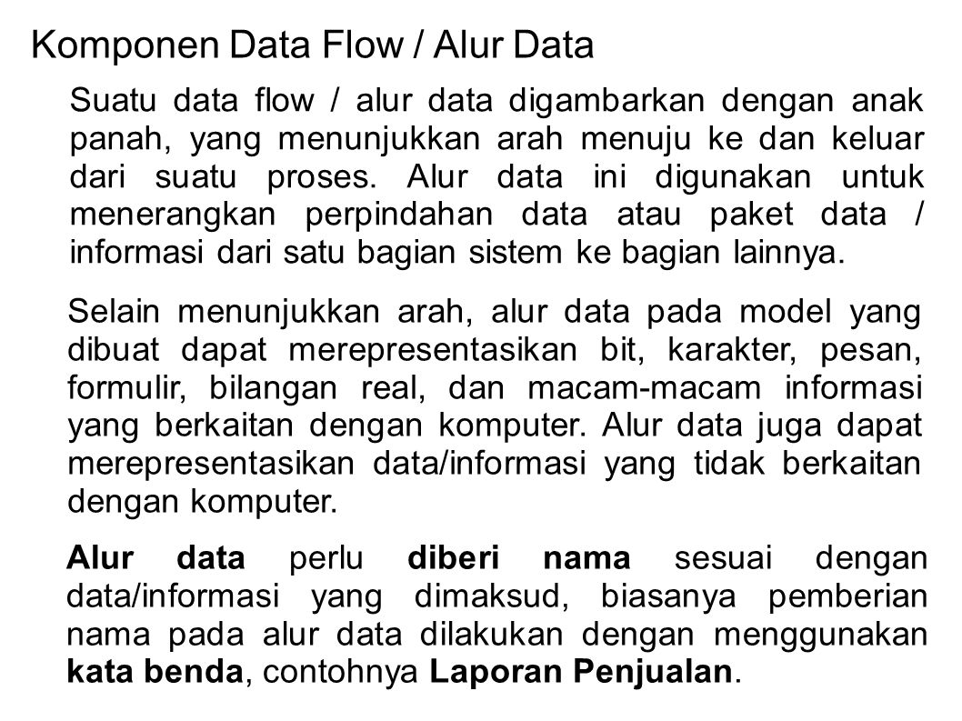 Komponen Data Flow / Alur Data