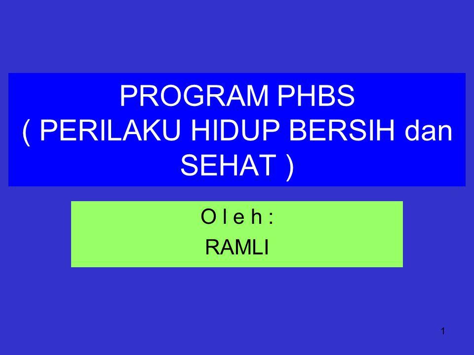 PROGRAM PHBS ( PERILAKU HIDUP BERSIH dan SEHAT )