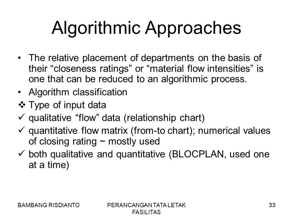 Algorithmic Approaches
