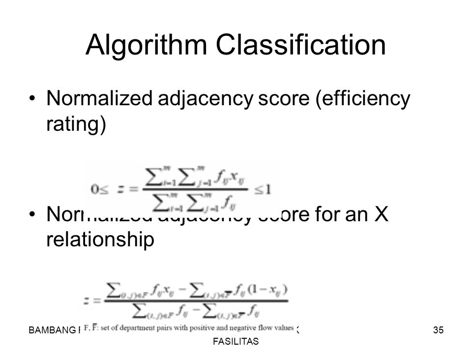 Algorithm Classification