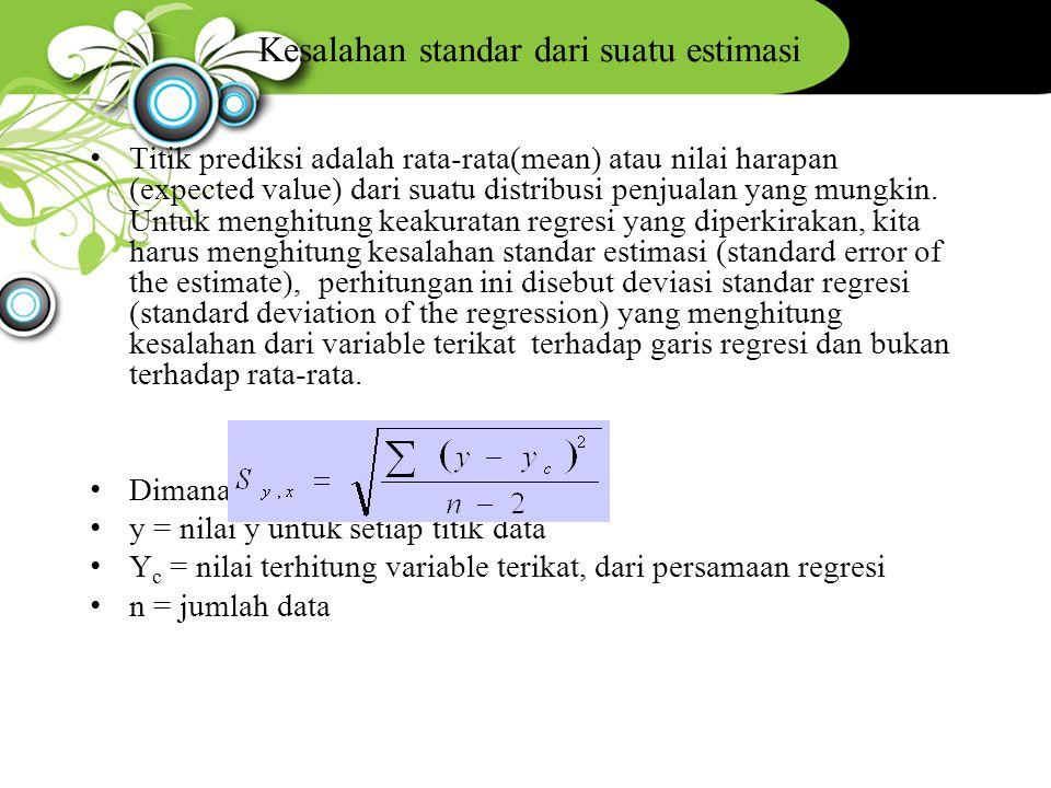 Kesalahan standar dari suatu estimasi