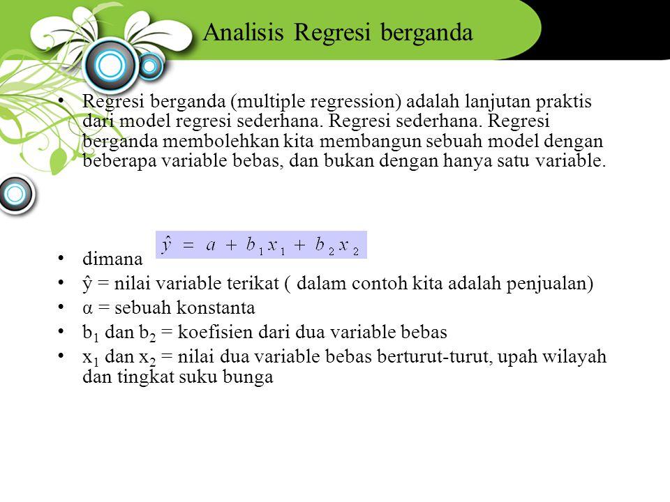 Analisis Regresi berganda