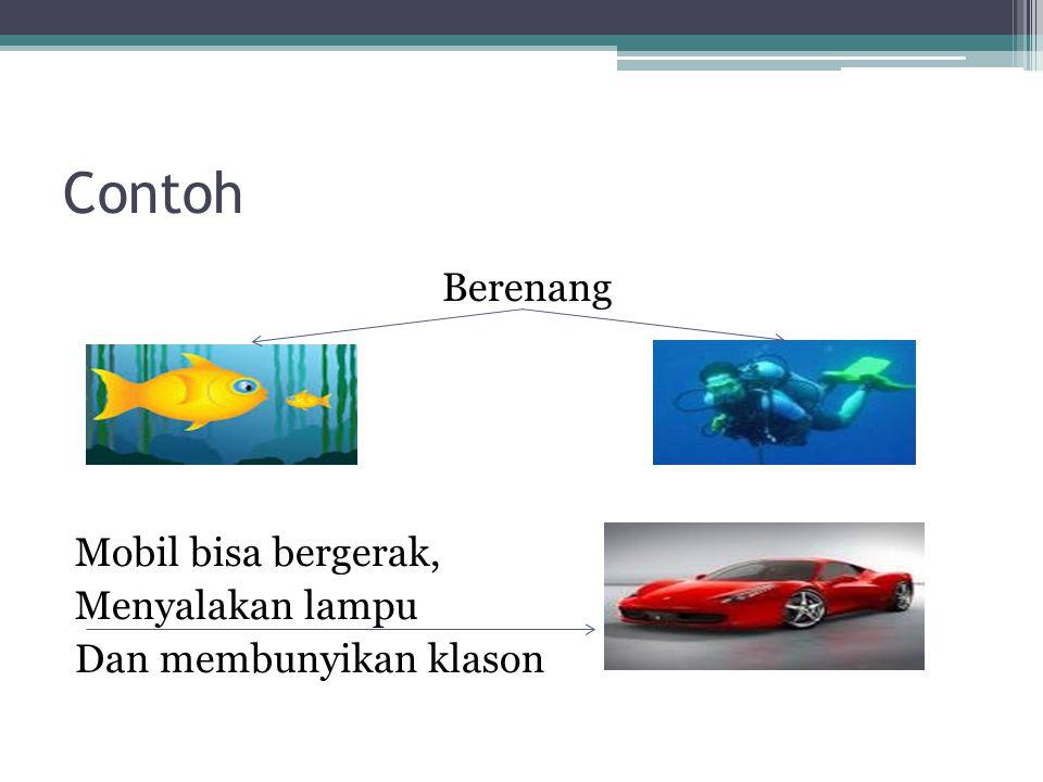 Berenang Mobil bisa bergerak, Menyalakan lampu Dan membunyikan klason