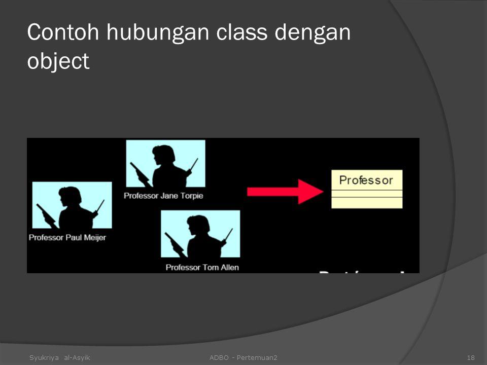 Contoh hubungan class dengan object