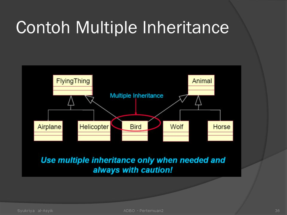 Contoh Multiple Inheritance