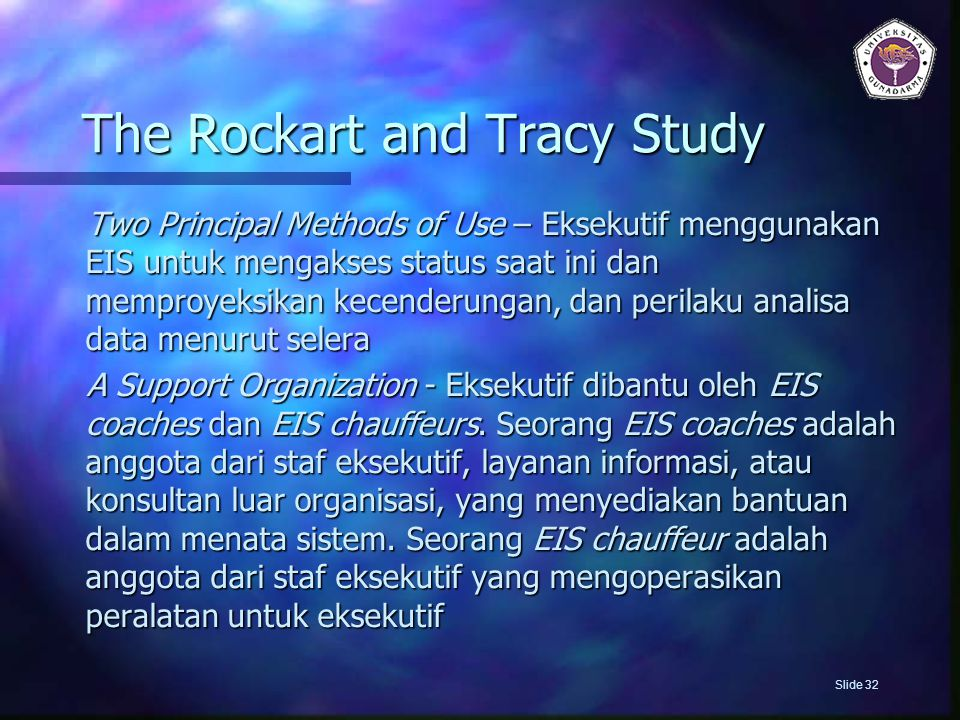 The Rockart and Tracy Study