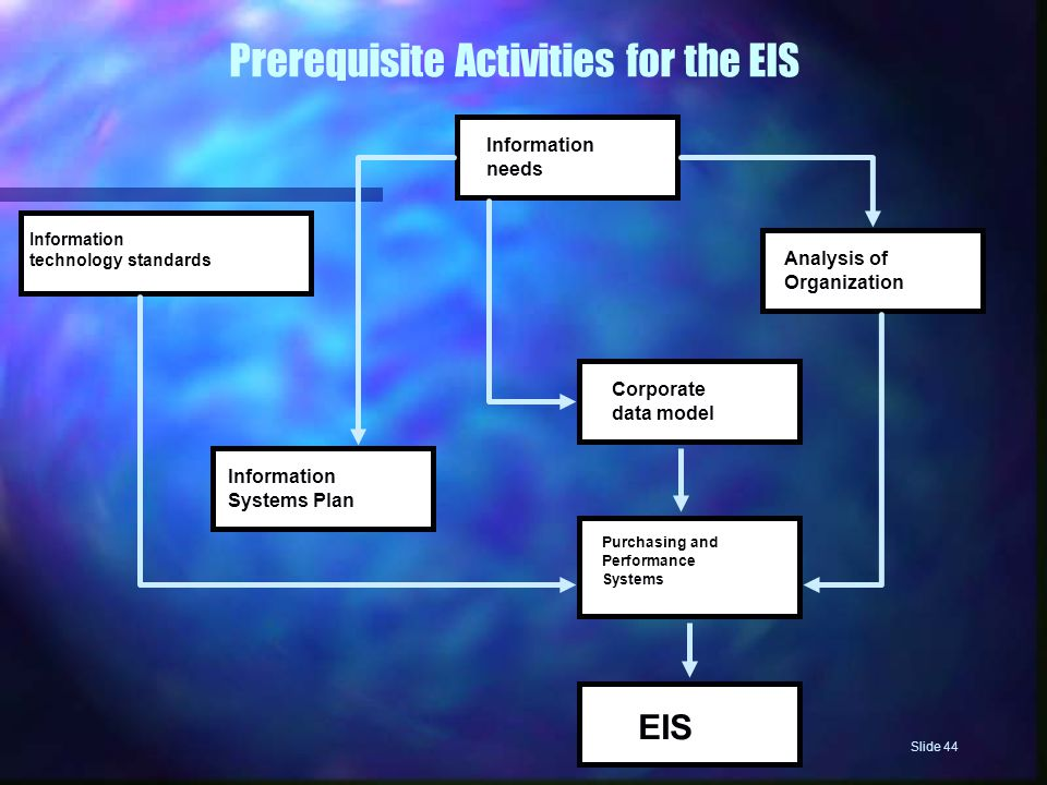 Prerequisite Activities for the EIS