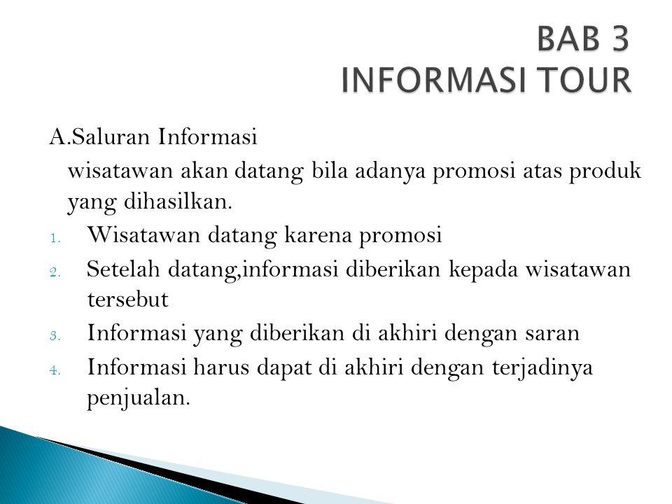 BAB 3 INFORMASI TOUR A.Saluran Informasi