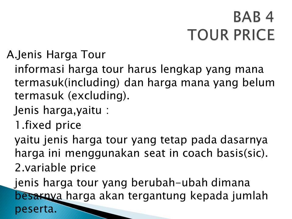 BAB 4 TOUR PRICE