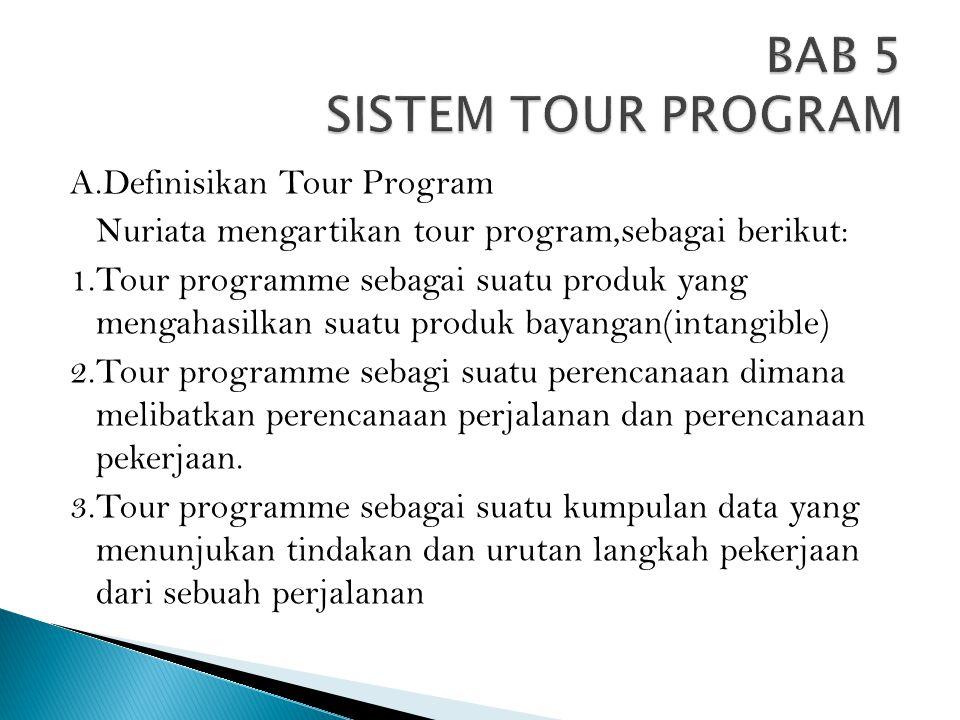 BAB 5 SISTEM TOUR PROGRAM