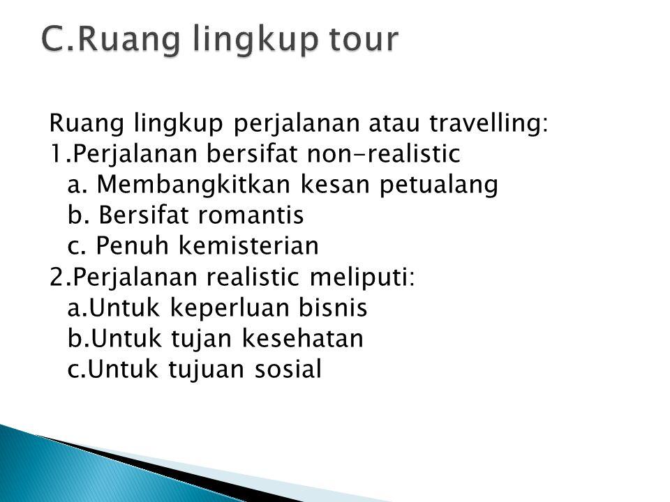 C.Ruang lingkup tour