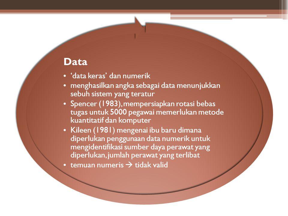 Data 'data keras' dan numerik. menghasilkan angka sebagai data menunjukkan sebuh sistem yang teratur.