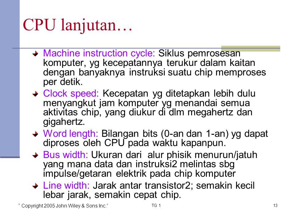 CPU lanjutan…