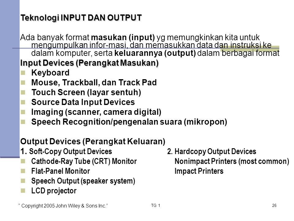 Teknologi INPUT DAN OUTPUT