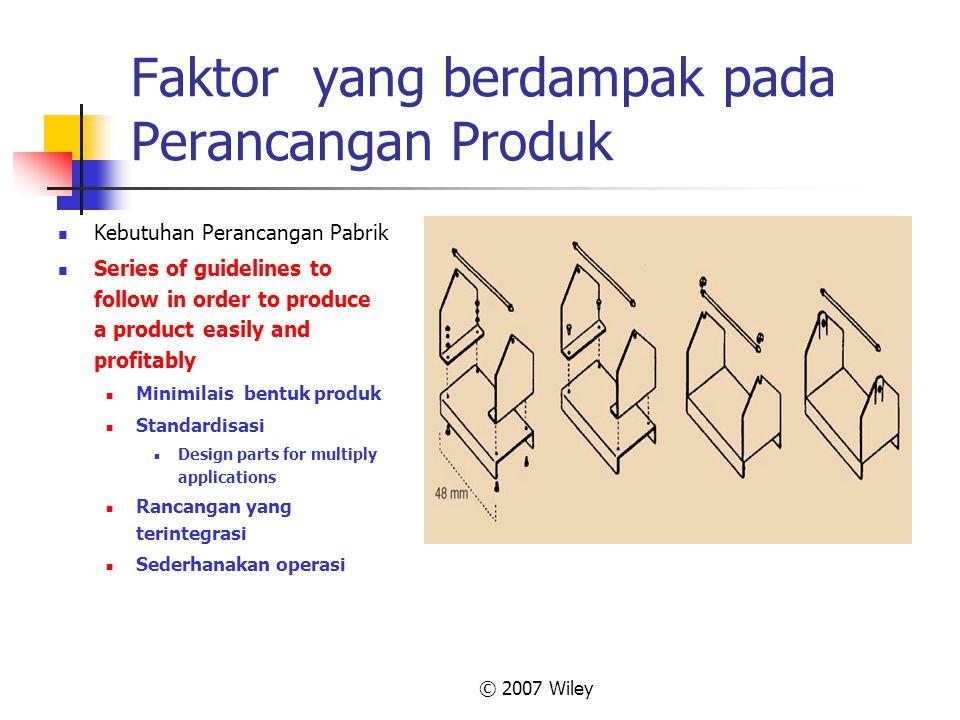 Faktor yang berdampak pada Perancangan Produk
