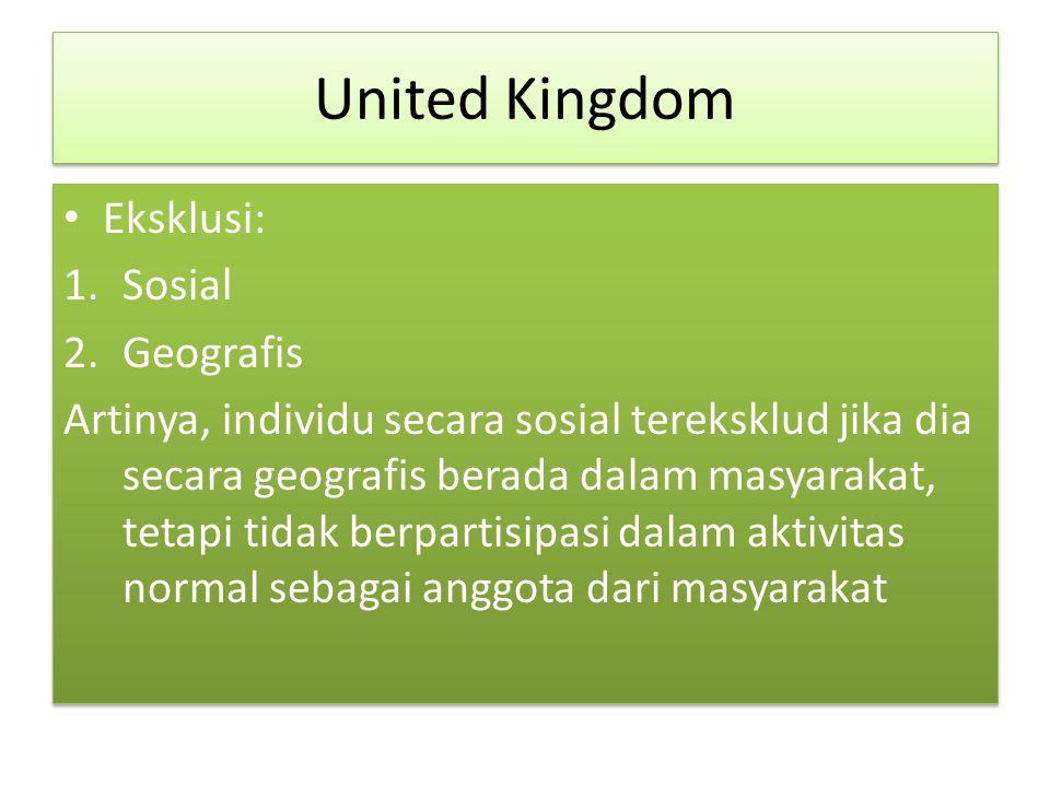 United Kingdom Eksklusi: Sosial Geografis